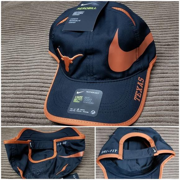 best service 9aaca b50db Texas Longhorns Nike NCAA dri-fit featherlight hat